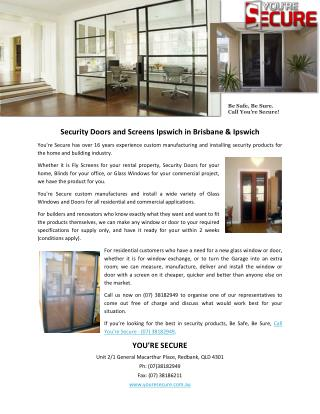 Security Doors and Screens Ipswich in Brisbane & Ipswich
