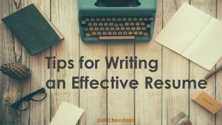 Best Tips for writing an effective resume