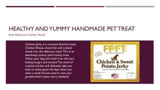 Healthy and Yummy Handmade Pet Treat