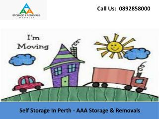 Self Storage In Perth - AAA Storage & Removals