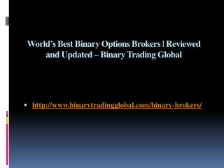 World's Best Binary Options Brokers | Reviewed and Updated – Binary Trading Global