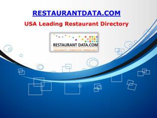 Restaurant List - Restaurant Data