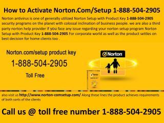 Norton Com Setup 1-888-504-2905