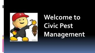 Welcome to Civic Pest Management