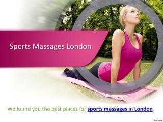 Best Sports Massage Centre in London