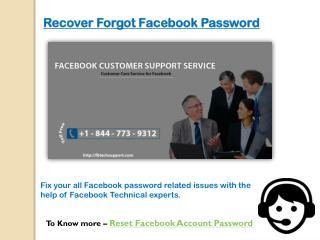 Reset Facebook Account Password