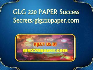 GLG 220 PAPER Success Secrets/glg220paper.com