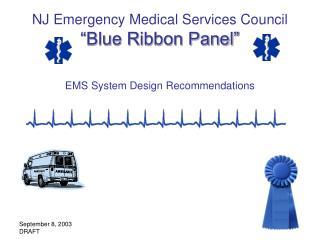 NJ Emergency Medical Services Council  Blue Ribbon Panel