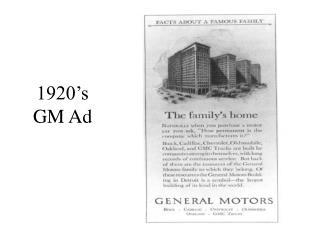 1920 s GM Ad