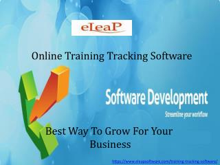 Online training tracking software
