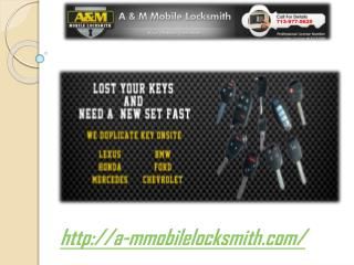 Mobile Locksmith Houston