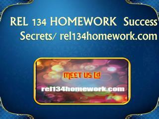 REL 134 HOMEWORK  Success Secrets/ rel134homework.com