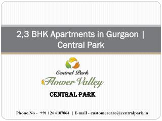 2,3 BHK Apartments in Gurgaon | Central Park