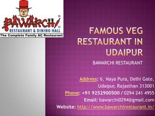 Famous Veg Restaurant in Udaipur