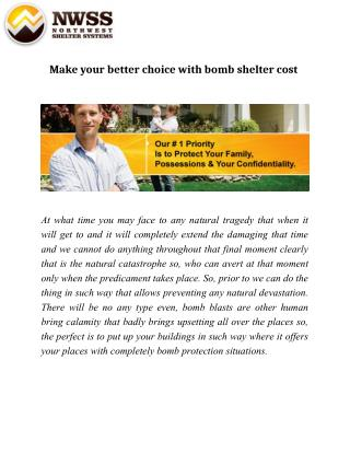 Make your better choice with bomb shelter cost