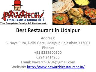 Best Veg Restaurant in Udaipur