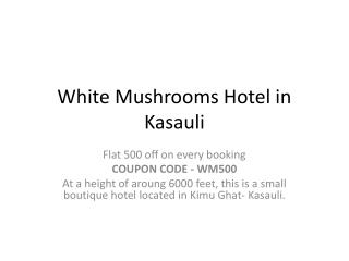White Mushrooms Hotels in Kasauli