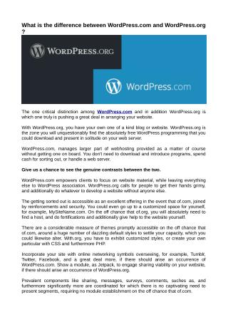 What is the difference between WordPress.com and WordPress.org ?