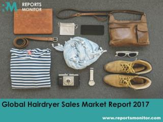 Global Hairdryer Sales Market Opportunities and Market Segmentation