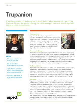 Trupanion: Aspect taking care of pet owners