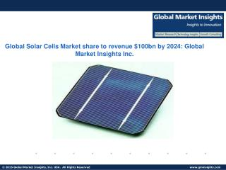 Australia Solar Cells Market size to exceed 5 GW from 2016 to 2024