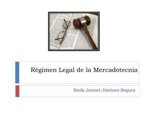 R gimen Legal de la Mercadotecnia