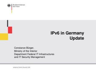 IPv6 in Germany Update