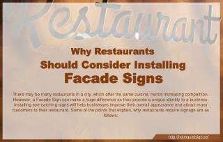 Why restaurants should consider installing façade signs?