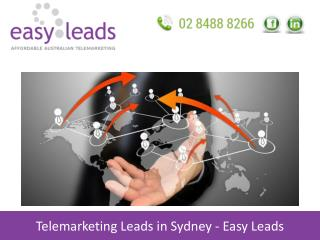 Telemarketing Leads in Sydney - Easy Leads