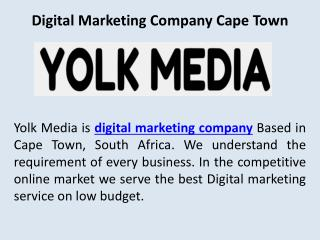 Digital marketing company capetown
