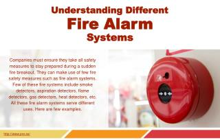 The Different types of fire alarm systems