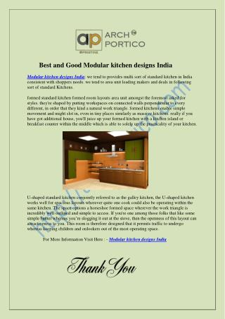 Best and Good Modular kitchen designs India