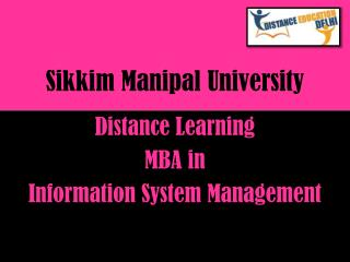 SMU Distance Learning MBA in Information system management