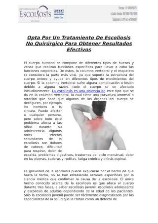 Opta Por Un Tratamiento De Escoliosis No Quirúrgico Para Obtener Resultados Efectivos