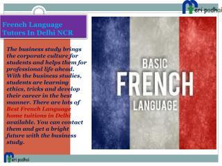French language tutors classes in Delhi