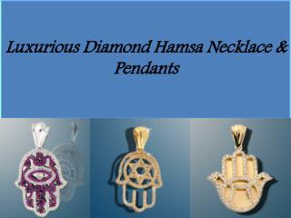 Beautiful Diamond Hamsa Necklace & Pendants