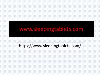 Buy Sleeping Tablets Online at cheap Price