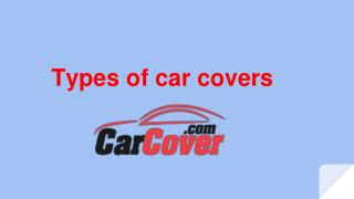 Types of car cover
