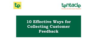 10 Ways to Collect Useful Customer Feedback