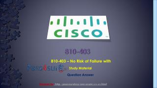 Cisco 810-403 Pass4surekey Selling Business Outcomes