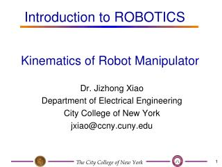 Kinematics of Robot Manipulator