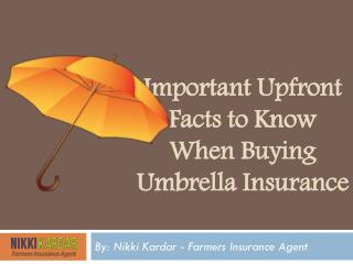 Important Upfront Facts to Know When Buying Umbrella Insurance