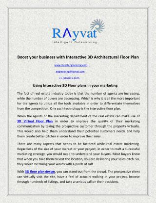 Interactive 3D Architectural Floor Plan