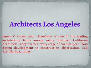 architects los angeles