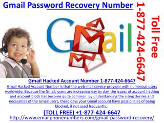 Call at 1-877-424-6647 for Gmail Help Number Now