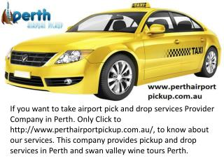 airport transfer services perth