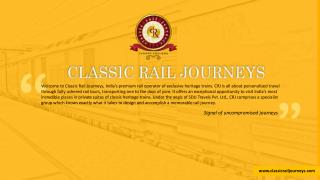 Royal Rajasthan on Wheels - The Finest Luxury Train in India