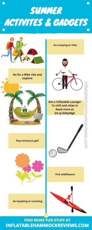 Things to do at summer and summer activities - Infographic