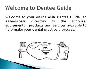 Dental products online
