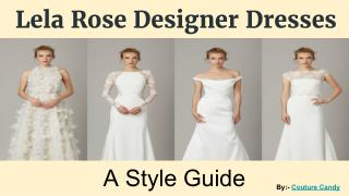 Explore Stylish Lela Rose Bridesmaid Dresses Online
